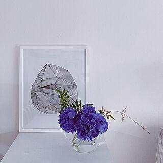 花のある暮らし/ガラスのティーポット/ブルー/青/紫陽花...などのインテリア実例 - 2021-06-24 14:32:56