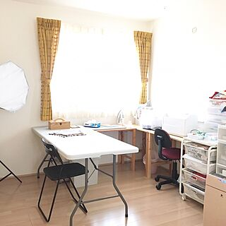 女性31歳の家族暮らし3LDK、ミシンスペースに関するHARUNAさんの実例写真