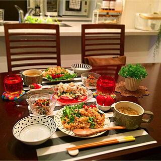 机/無印良品/野菜が好き♡/健康的に過ごしたい☆/ダイニング/晩ごはん...などのインテリア実例 - 2018-05-04 22:20:28