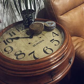 ニトリのソファー/ニトリ/グリーンのある暮らし/SEIKOSHA/古時計のカフェテーブル...などのインテリア実例 - 2019-03-07 22:05:14