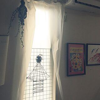 女性家族暮らし2LDK、こどもの工作を飾るに関するnejikoさんの実例写真