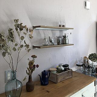 木箱DIY/お気に入り/丁寧に暮らしたい/シンプルな暮らし/キッチン棚...などのインテリア実例 - 2019-05-05 09:28:19