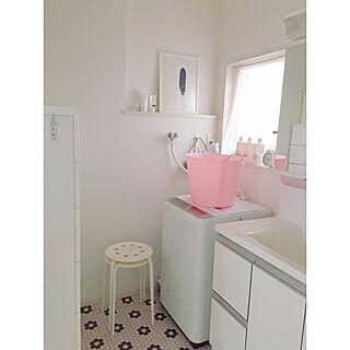 女性家族暮らし、洗濯かごに関するRさんの実例写真