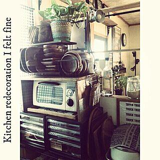 キッチン/デニム/DIY/男前/ポスター/布プリ(•ө•)♡...などのインテリア実例 - 2014-08-10 08:32:03