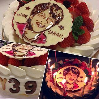 女性43歳の家族暮らし3LDK、バースデーケーキに関するcocoiro13さんの実例写真