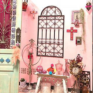 リビング/handmade/モロッコカゴ/モロッコ風/ドライフラワー...などのインテリア実例 - 2018-07-22 17:26:09