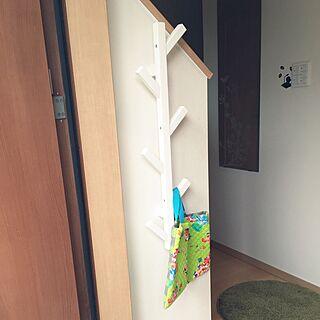 玄関/入り口/帽子掛け/IKEA/ハンガーラック/IKEA TJUSIG...などのインテリア実例 - 2017-06-18 08:24:13