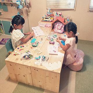 机/DIY/おもちゃ収納/和室を洋室に /読書スペース...などのインテリア実例 - 2019-08-13 07:27:19