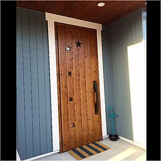 玄関/入り口/ドアマット/星/外壁/モルタル...などのインテリア実例 - 2016-03-17 19:31:24
