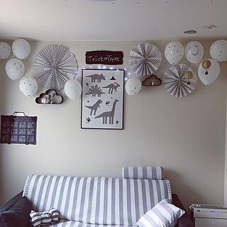 女性36歳の家族暮らし2LDK、ファンに関するminteaさんの実例写真