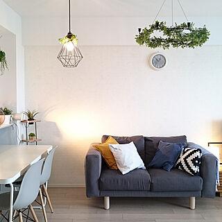 部屋全体/IKEAのソファー/NORSBORG/IKEAのダイニングテーブル/間接照明...などのインテリア実例 - 2018-05-14 20:52:40