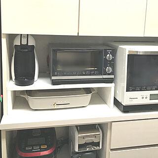 キッチン/ドルチェグスト/コの字ラックDIY/食器収納/食器棚...などのインテリア実例 - 2018-04-01 20:58:53