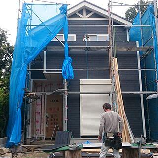 部屋全体/新築中/ニチハのサイディング/青い家/ネイビー...などのインテリア実例 - 2016-06-09 09:43:51