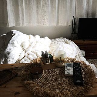 机/キャンドルLEDライト/生成りのカーテン/生成りが好き/ワンコと暮らす家...などのインテリア実例 - 2017-11-24 08:53:50