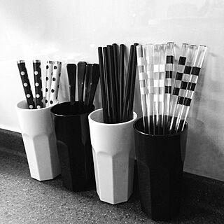 キッチン/モノクロ/白黒/モノトーン/IKEA...などのインテリア実例 - 2014-01-26 22:46:00