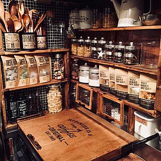 キッチン/コンロ周り/調味料収納/調味料棚/見せる収納...などのインテリア実例 - 2018-02-16 11:40:05