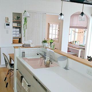女性家族暮らし3LDK、タカラスタンダード キッチンに関するsakuさんの実例写真