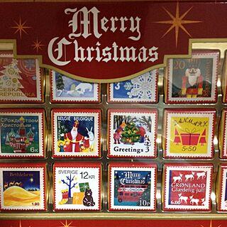 机/切手/チョコレート/カルディ/クリスマス♪のインテリア実例 - 2013-11-28 16:26:47