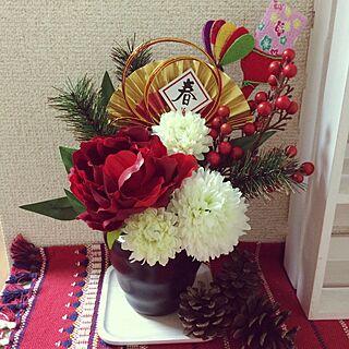 女性家族暮らし2K、お正月ディスプレイに関するchiirisuさんの実例写真