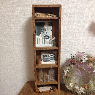 棚/アンティークキー/アンティークポストカード/古い木箱/アンティーク瓶...などのインテリア実例 - 2015-06-23 17:45:54