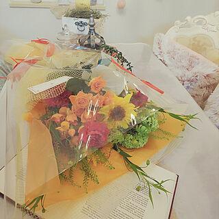 机/母の日/母の日のプレゼント♡/旦那さん、子どもたちからの贈り物/サプライズ...などのインテリア実例 - 2019-05-12 21:38:15