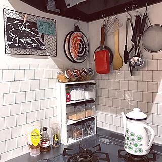 キッチン/セリア/壁紙シート/賃貸アパート/一人暮らし/IKEA...などのインテリア実例 - 2018-02-10 07:27:20