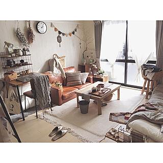 部屋全体/ラグ/ローテーブル/ソファ/暮らしを楽しむ...などのインテリア実例 - 2017-11-21 21:23:20
