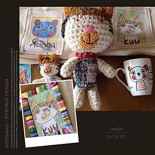 女性家族暮らし4LDK、手編みバックに関する38coreさんの実例写真