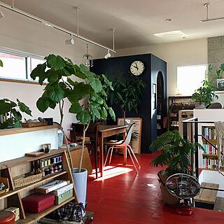 女性その他1LDK、カフェ風??本棚に関するparudoxさんの実例写真