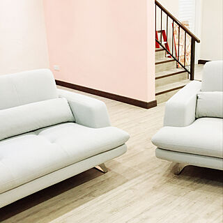 White Sofa/pink wall/living room/北欧のインテリア実例 - 2018-03-26 22:54:38