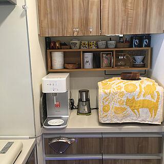 コーヒーコーナー/無印良品 壁に付けられる家具/浄水器/ウォーターサーバー/ウォータースタンド...などのインテリア実例 - 2019-12-24 22:57:27