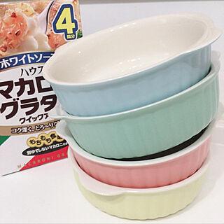 女性40歳の家族暮らし4LDK、グラタン皿にに関するMasamiさんの実例写真