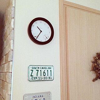 壁/天井/時計リメイク/リメイク/カフェ風のインテリア実例 - 2013-11-09 10:41:07