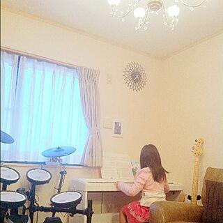 女性家族暮らし、ドラム&ピアノに関するkeichanさんの実例写真