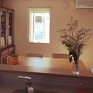 女性家族暮らし4LDK、キッチンからパチリに関するkuronekokoさんの実例写真
