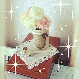 リビング/バテンレース/フェイクフラワー/satsukiさん*/ありがとうございます(*˙︶˙*)☆*°のインテリア実例 - 2014-04-25 08:53:30