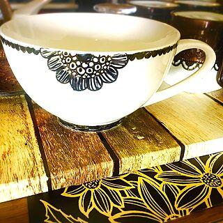 キッチン/スープカップ/ハンドメイド/陶磁器用お絵かきペン/らくやきマーカー...などのインテリア実例 - 2017-07-08 12:13:35