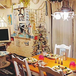 女性家族暮らし4LDK、リースサラダに関するMegumiさんの実例写真