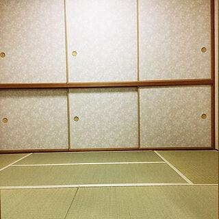 女性43歳の家族暮らし4LDK、和室の寝室に関するoponさんの実例写真
