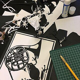 バス/トイレ/すきなものに囲まれた暮らし/切り絵/手作りアート/100均...などのインテリア実例 - 2017-04-06 07:08:23