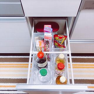 キッチン/ラップ収納/調味料/収納/ファイルボックス...などのインテリア実例 - 2018-06-21 14:23:11