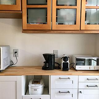 キッチン/家電は白派/エスプレッソマシン/コーヒーメーカー/NESPRESSO...などのインテリア実例 - 2018-02-05 07:59:21