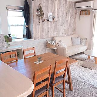 女性家族暮らし4LDK、ファニチャードームのソファーですに関するchisaさんの実例写真