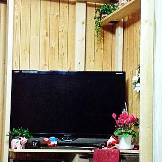 リビング/猫と暮らす/暮らしの一コマ/シクラメン鉢植え/こどもと暮らす。...などのインテリア実例 - 2018-12-04 01:00:29