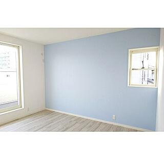 女性家族暮らし3LDK、ブルーの壁に関するiceさんの実例写真