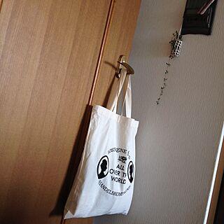 女性52歳の家族暮らし4LDK、hibikiちゃんエコバッグに関するleonaさんの実例写真