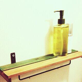 女性40歳の家族暮らし2LDK、手作りタオル掛けに関するmegさんの実例写真