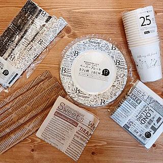 机/ペーパーナプキン/割り箸/紙ナフキン/紙皿...などのインテリア実例 - 2018-04-10 19:49:01