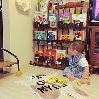 棚/家型/すのこ本棚/DIY/赤ちゃんのいる暮らし...などのインテリア実例 - 2017-06-24 15:59:37