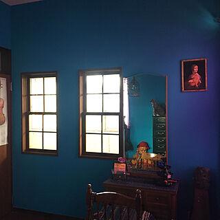 青い部屋/猫バカ/ねこと暮らす。/かめらまーく消し/ちびこ...などのインテリア実例 - 2019-11-08 21:07:36